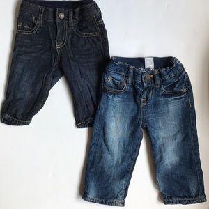 2 piece bundle baby gap jeans 3-6 months